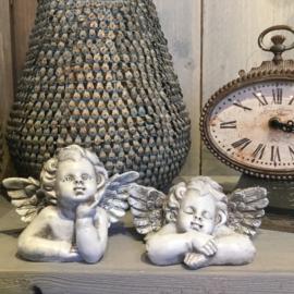 Set van 2 decoratie engeltjes 13*8*10