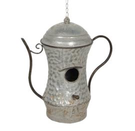 Decoratie vogelhuis grijs 32*19*35