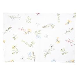 Stoffen placemats met bloemen (6)