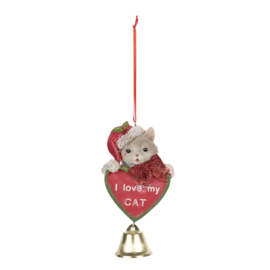 Decoratie hanger I love my cat