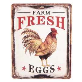 Tekstbord Farm Fresh Eggs 25*20