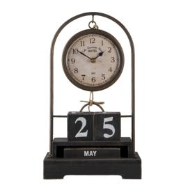 Tafelklok met kalender 23*12*39