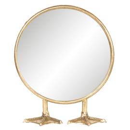 Staande spiegel op eenden voeten 25*30