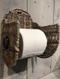 Rotan toiletpapierhouder