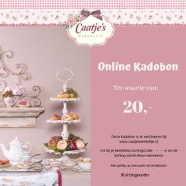 Online kadobon Caatje's winkeltje  t.w.v  €20,00