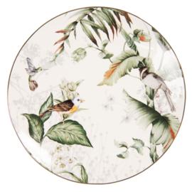Ontbijt gebaks bord Tropical Bird 20*2