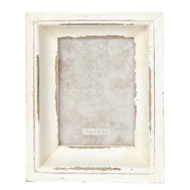 Brocante houten fotolijst 13*18