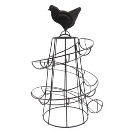 Ijzeren eierhouder kip