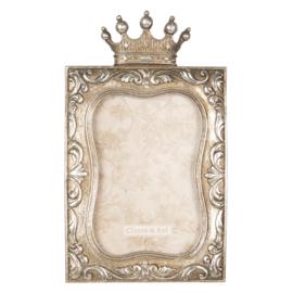 Fotolijst kroon oud zilverkleur 10*15
