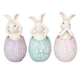 Horen zien en zwijgen konijntjes in ei (3)