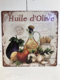 Tekstbord / wandplaat Huile d'Olive