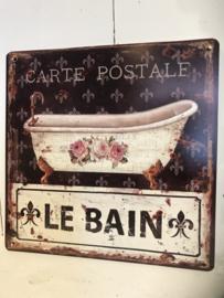 Tekstbord / wandplaat Le Bain