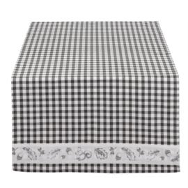 Tafelloper grijs geruit 50*140