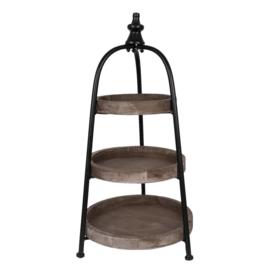 Etagère 3-laags hout/metaal