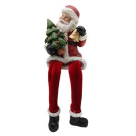 Decoratie Kerstman met bungelende beentjes