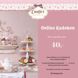 Online kadobon Caatje's winkeltje t.w.v €40,00