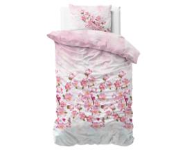 Flanellen dekbedovertrek Sweet Flowers Pink 140*220