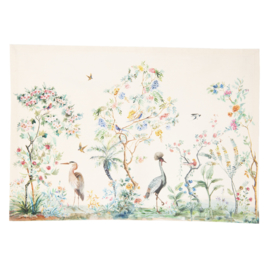 Stoffen placemats (6) Birds in Paradise
