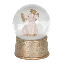 Sneeuwbol varken goud