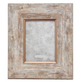 Landelijke fotolijst (M) hout look/rosé 13*18