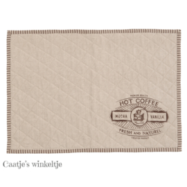 Stoffen placemats Coffee (6)