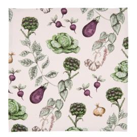 Stoffen servetten (6) groenten print 40*40