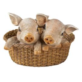Decoratie varkens in mand