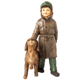 Decoratie meisje met hond