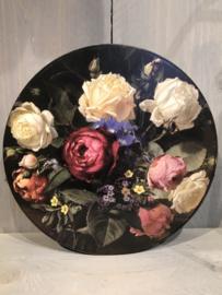 Ronde doos met bloemen