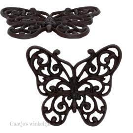 Ijzeren onderzetter Vlinder