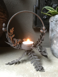 Waxinelichthouder bloemen rond 15*15*13