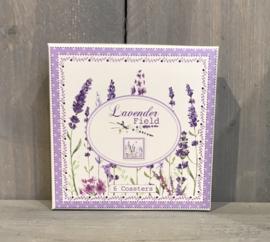 Kunststof onderzetters (6) Lavender Field