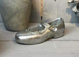 Decoratie kinder schoen zilver 15*6*5