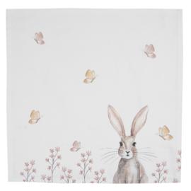 Stoffen servetten (6) Rustic Easter Bunny