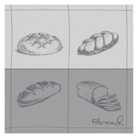 Theedoek Bread grey