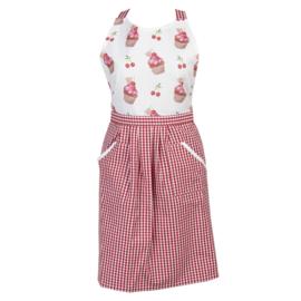 Keukenschort Cherry Cupcakes model 2