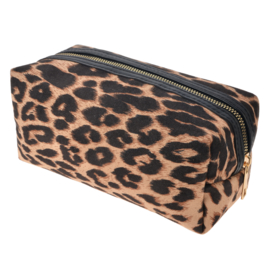 Make-up tas panter bruin