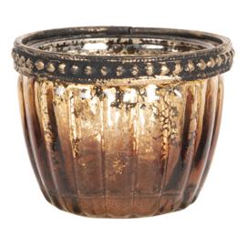 Waxinelichthouder goud/brons 6*5