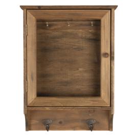 Landelijke houten sleutelkast hang 30*8*40