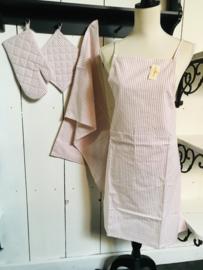 Textielpakket set van 4 roze gestreept