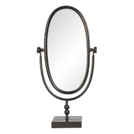 Tafelspiegel ovaal zwart