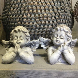 Set van 2 decoratie engeltjes 9*6*7