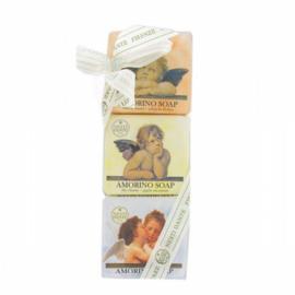 Geschenkset Amorino zeep engelen 3x 150gr