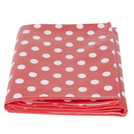 PVC tafelkleed rood dots 137*180