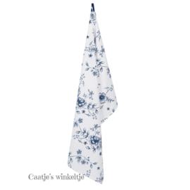 Keukendoek bloemen blauw 50*85