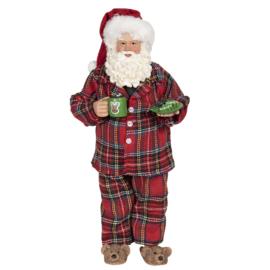 Decoratie Kerstman in pyjama