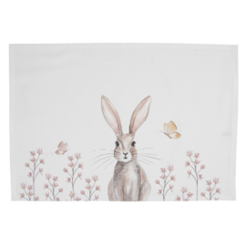 Stoffen placemats (6) Rustic Easter Bunny