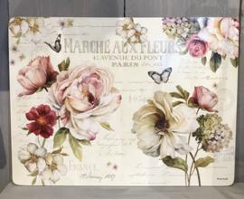 Kunststof placemats (4) Marche aux Fleurs