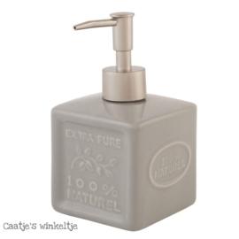 Zeep / lotion pompje grijs