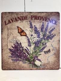 Tekstbord / wandplaat Lavendel